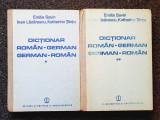 DICTIONAR ROMAN-GERMAN * GERMAN-ROMAN - Savin (2 volume)
