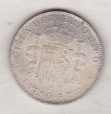 bnk mnd Puerto Rico 1 peso 5 pesetas 1895 - REPLICA , alama argintata
