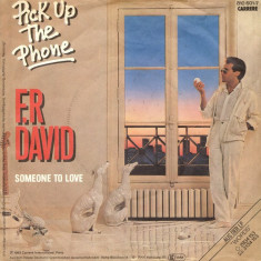 "F.R. David - Pick Up The Phone (1983, Carrere) disc vinil single 7"""