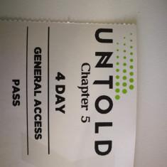 Vand bilet Untold 4 ZILE general access