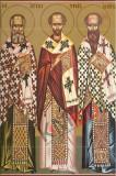Icoana Sfintii Trei Ierarhi: Vasile cel Mare, Grigorie Teologul ÅŸi Ioan Gura de Aur