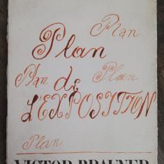 Victor Brauner - Plan de Expozitie litografiat, rar, format mare / 1966