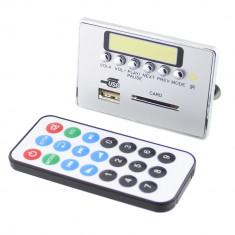 Modul decodor MP3, citire USB/ SD, afisaj cu LED-uri, cu telecomanda - 130300