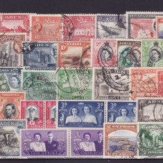1852  - lot timbre Colonii engleze