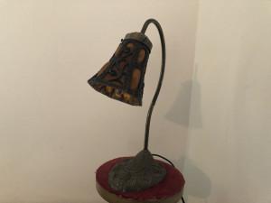Veioza veche englezeasca,stil Tiffany,intrerupator pe cablu