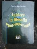Initiere in filozofia contemporana , Vasile Macoviciuc , 2000