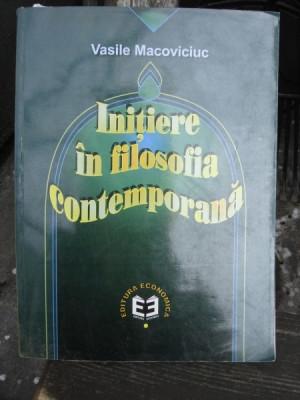 Initiere in filozofia contemporana , Vasile Macoviciuc , 2000 foto