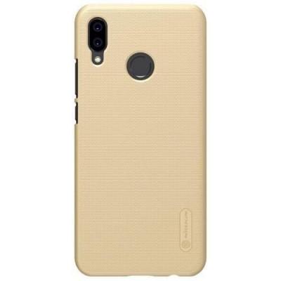 Husa Huawei P20 Lite Folie ProtectieNillkin Frosted Shield Gold foto