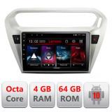 Navigatie dedicata Peugeot 301 Citroen C-Elisee E-301 cu Android Radio Bluetooth Internet DSP Octa Core 4+64GB 4G CarStore Technology