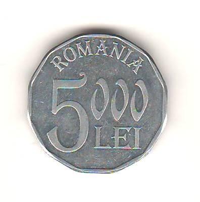 SV * Romania  BNR  5000  LEI  2001     +/- AUNC