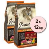 Cumpara ieftin Primordial GF Adult Buffalo & Mackerel 2 x 12 kg