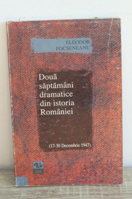 Eleodor Focseneanu - Doua saptamani dramatice din Istoria Romaniei foto