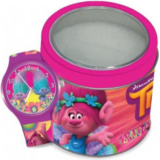 Ceas Junior WALT DISNEY KID WATCH Model TROLLS - Tin Box 504602