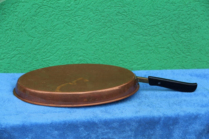 Tigaie cupru cu inox pentru pajit peste