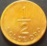 Moneda 1/2 SOL DE ORO - PERU, anul 1976   *Cod 5209, America Centrala si de Sud
