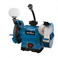 Polizor de banc dublu cu functie de polizare si slefuire BG200AL Scheppach SCH4903106901, 550 W, O200 mm