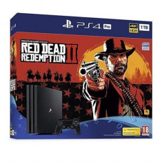 Consola Sony Playstation 4 Pro 1Tb Black + Red Dead Redemption 2 Ps4