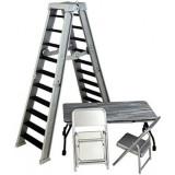 Accesorii WWE - Set scara, masa si scaune (argintiu), Mattel