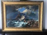 13  Futuna in Port, tablou cu peisaj. Pictura ulei pe panza inramata 73x96 cm