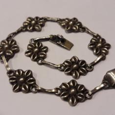 BRATARA argint FLORI de CAMP delicata FRANTA art nouveau 1900 de efect FINUTA
