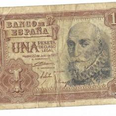 Bancnota 1 peseta 1953 - Spania