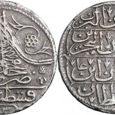 1730 ( 1143ah ) - yirmilik | 1/2 kuruș - Mahmud I - Imperiul Otoman