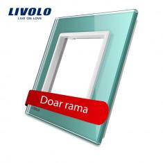 Rama priza simpla Livolo din sticla, Verde