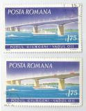 România, LP 795/1972, Poduri, deplasare culoare, eroare, oblit.