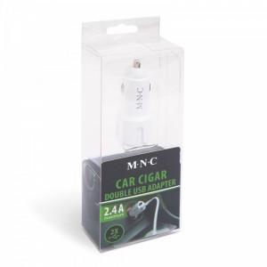 Adaptor bricheta 2 x USB – Alb Best CarHome
