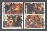 Sao Tome 1988 Paintings Christmas used DE.061