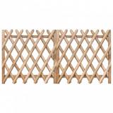VidaXL Porți de grădină, 2 buc., 300 x 100 cm, lemn de pin tratat