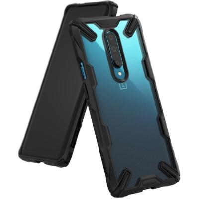Husa Antisoc Ringke Fusion X pentru OnePlus 7 Pro Negru foto