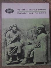 MANUALUL. CATRE SINE-EPICTET, MARCUS AURELIUS foto