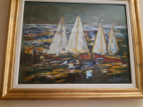 Tablou stil fauvist de ION MATASAREANU (1930-2015), Marine, Ulei, Fauvism