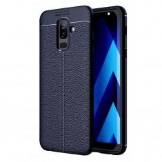 Husa Telefon Silicon Samsung Galaxy J8 2018 j810 Litchi Blue