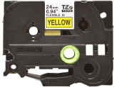 Banda continua laminata flexibila Brother TZEFX651 24mm 8m Negru pe Galben