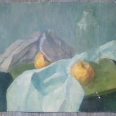 Natura statica cu portocale// ulei pe carton subtire