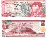 !!! MEXIC - 20 PESOS 1973 - P 64 b6 - UNC  / SERIA BA / CEA DIN SCAN