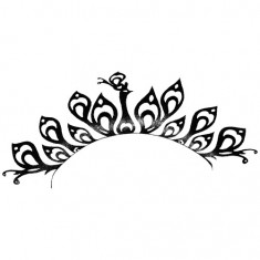 Gene Aplicabile Peacock negru, de hartie Femei