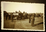 P.093 FOTO RAZBOI MILITARI GERMANI WWII WEHRMACHT COLOANA CAMIOANE Opel Blitz