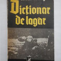 DICTIONAR DE LAGAR - OLIVER LUSTIG