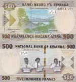 Rwanda 500 Franci 2019 UNC