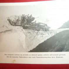 Fotografie ww2 tiparita -Vehicul  Artilerie Anti-Aeriana Germana   ,dim18x24cm