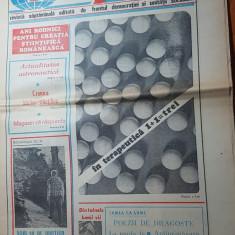 Ziarul magazin 30 iulie 1983- poezie de adrian paunescu si art. cheile turzii