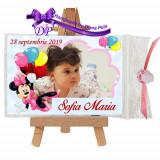 Marturii botez magneti Handmade by Diana Puiu Minnie Mouse MDFM 2