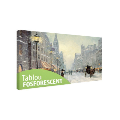 Tablou canvas fosforescent Old City, 90x52 cm foto