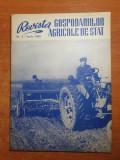 Revista gospodariilor agricole de stat aprilie 1960-art. slobozia,varias,galati