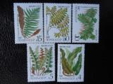 Serie timbre flora flori plante URSS nestampilate