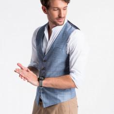 Vesta premium, eleganta, barbati - V48-albastru-inchis