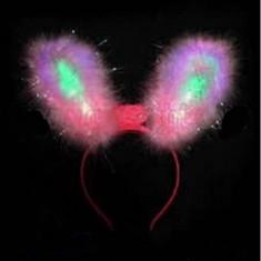 Cordeluta cu led urechi de iepuras pufoase